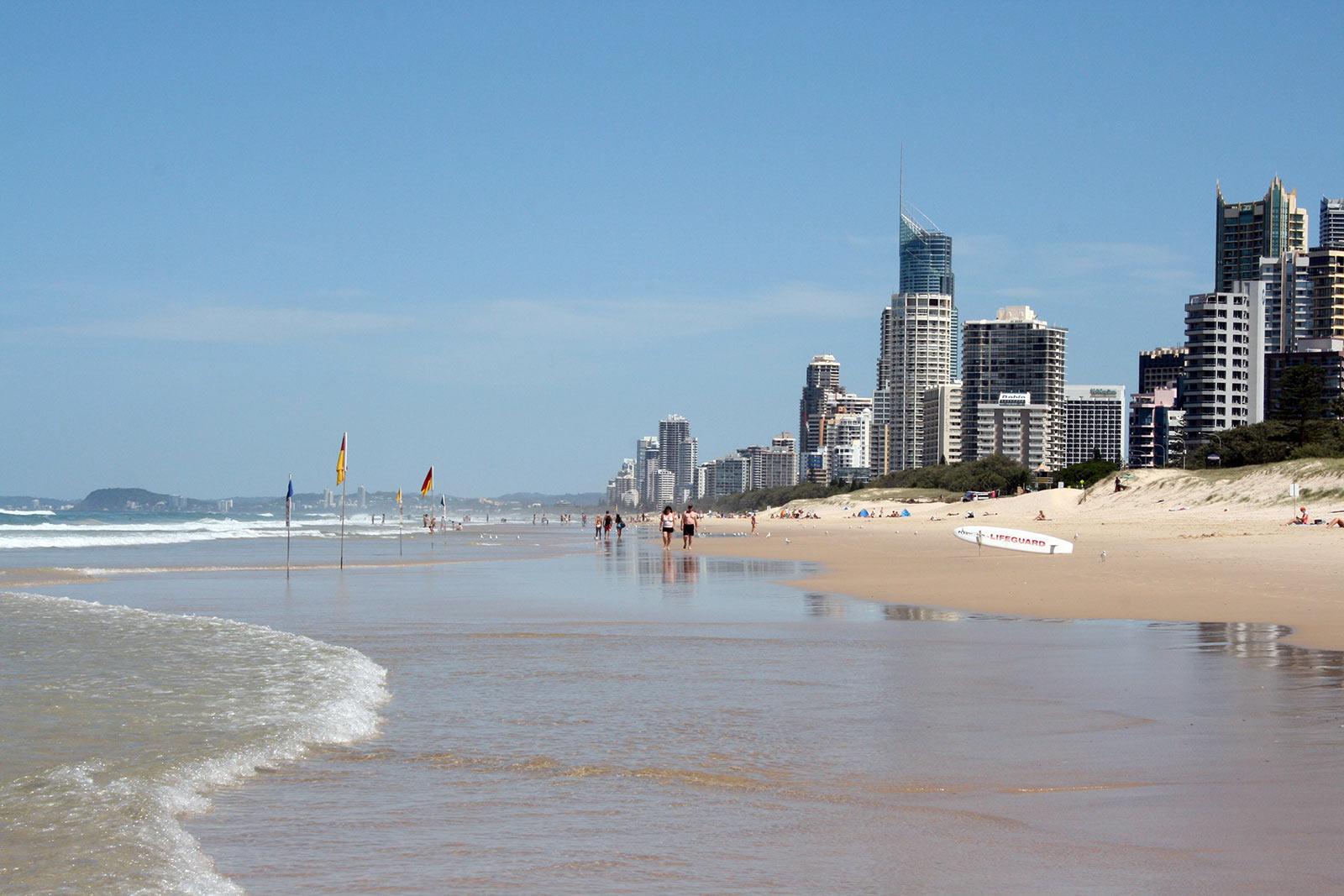Sehenswürdigkeiten in Brisbane, Australien: Surfers Paradies Gold Coast