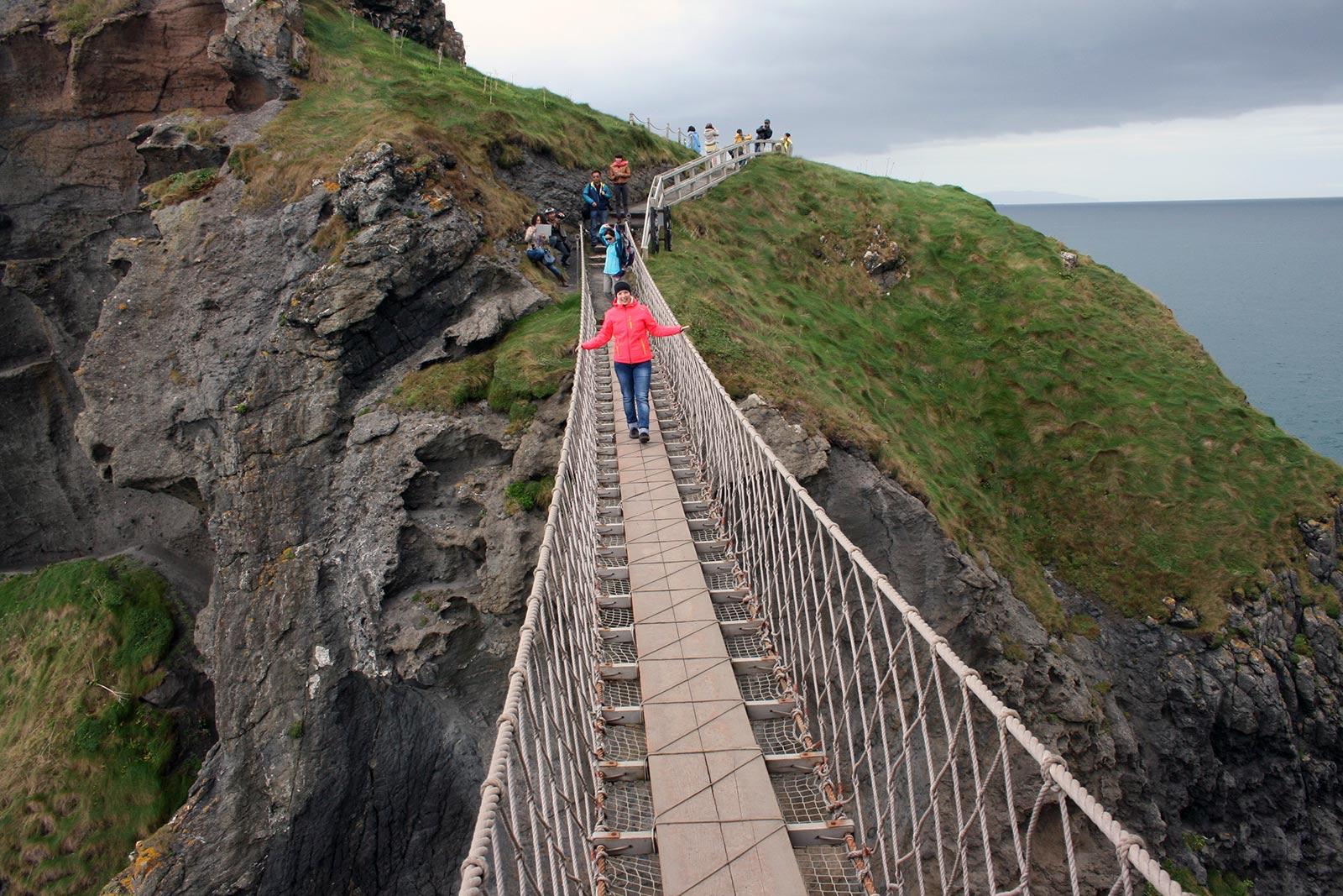 Carrick-a-Rede Hängebrücke, Nordirland; Reisetipps Irland, Reisebericht Irland;