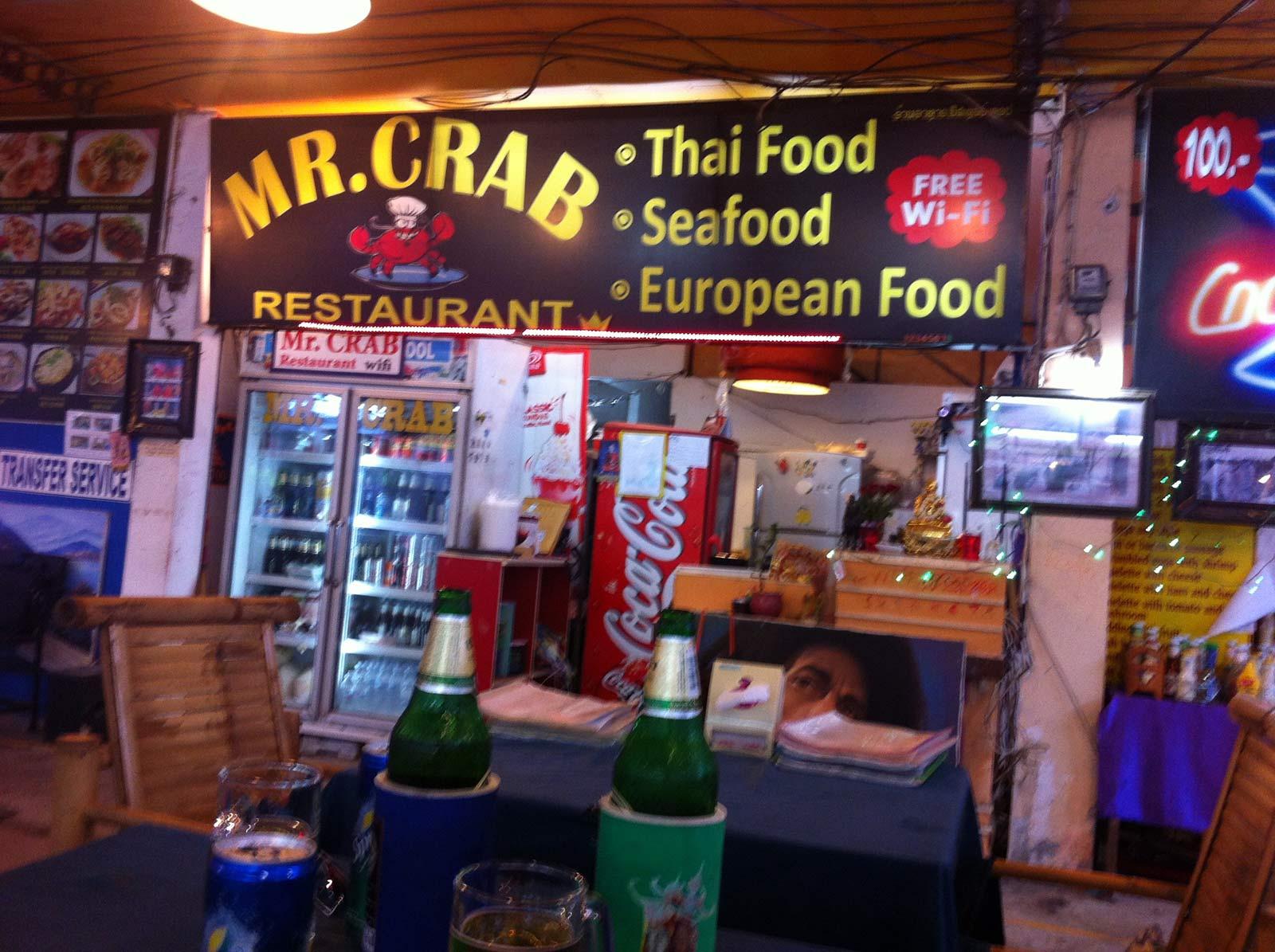 Thailand, Koh Samui; Restaurant Mr. Crabs in Chaweng