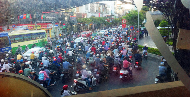 Vietnam, Ho-Chi-Minh City, Feierabendverkehr
