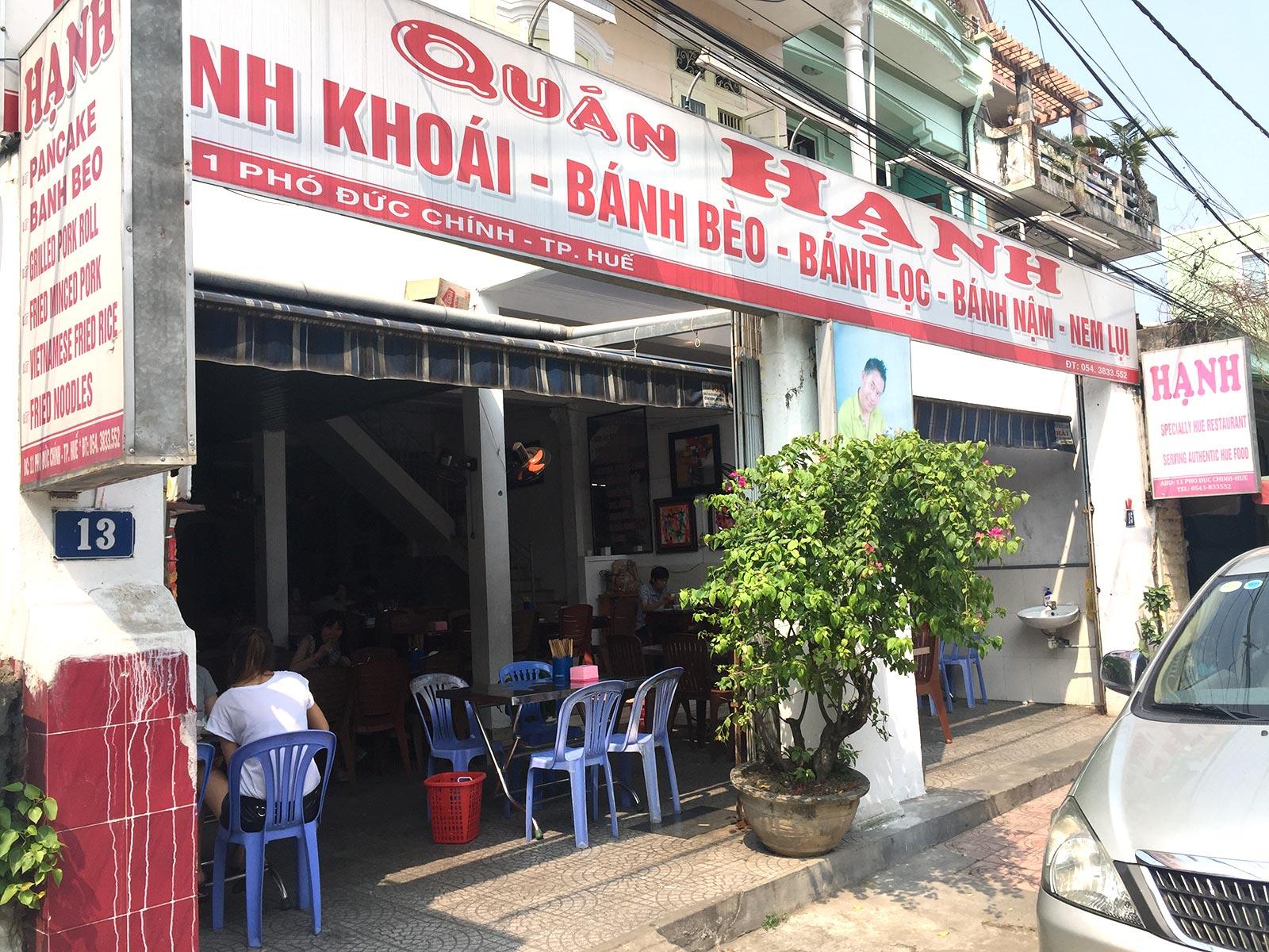 Hanh Restaurant, Hue, Vietnamese Cuisine