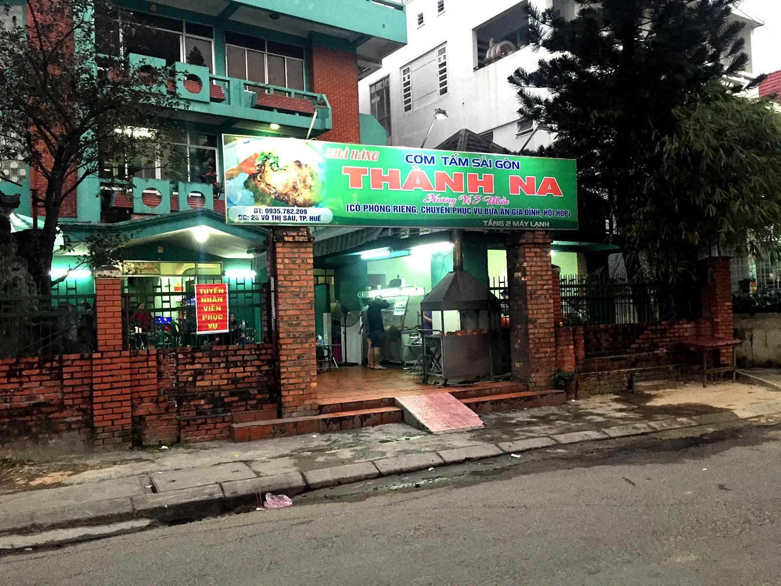 Thanh Na Restaurant, vietnamesisch Hue
