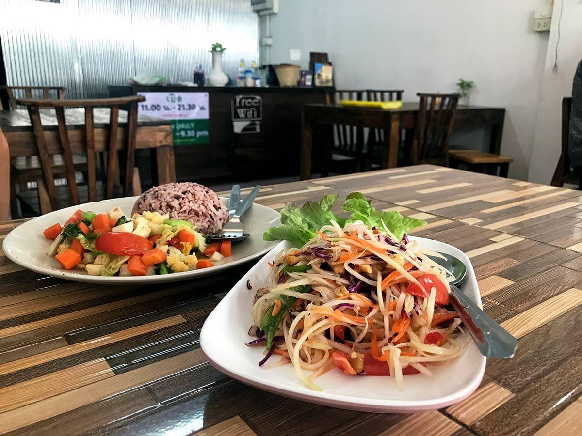 Chang Mai gute vegetarische Restaurants; Reisetipps Thailand