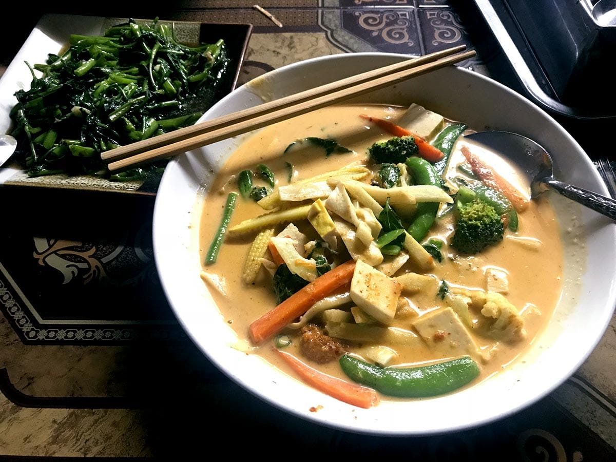 Chang Mai gute vegetarische Restaurants: Kanjana; Reisetipps Thailand