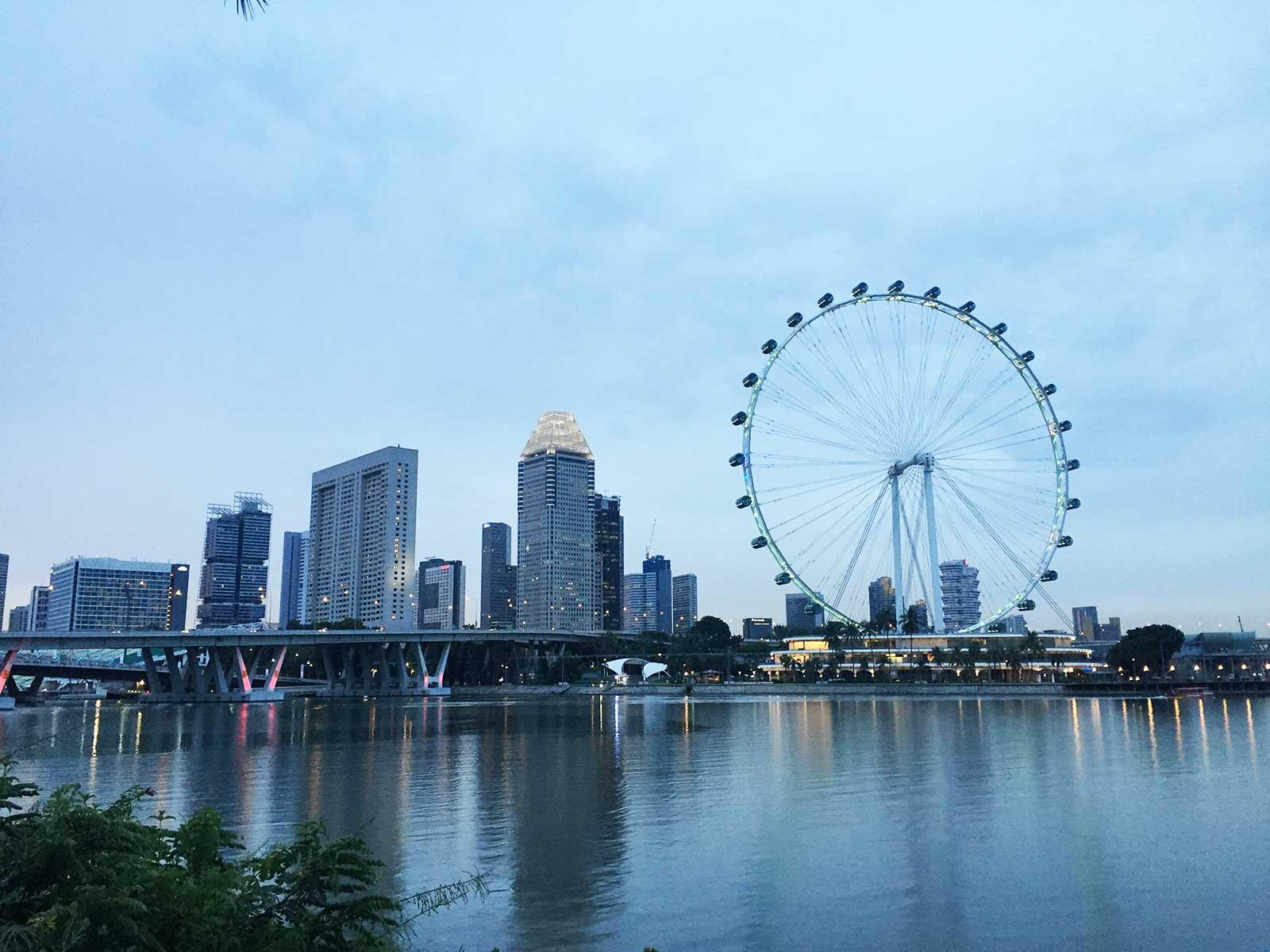 Sehenswürdigkeiten in Singapur; Singapore Flyer, Singapur Riesenrad
