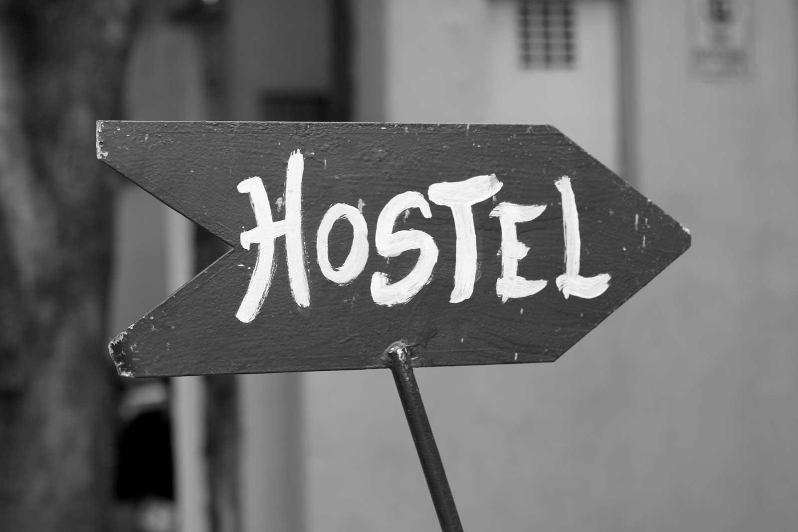 Übernachtung im Hostel; Gepäckstücke
