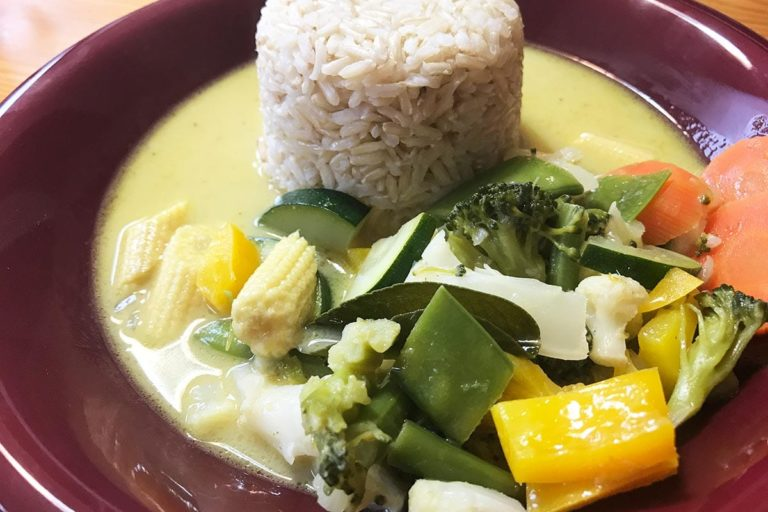 Grünes Thai Curry vegetarisch