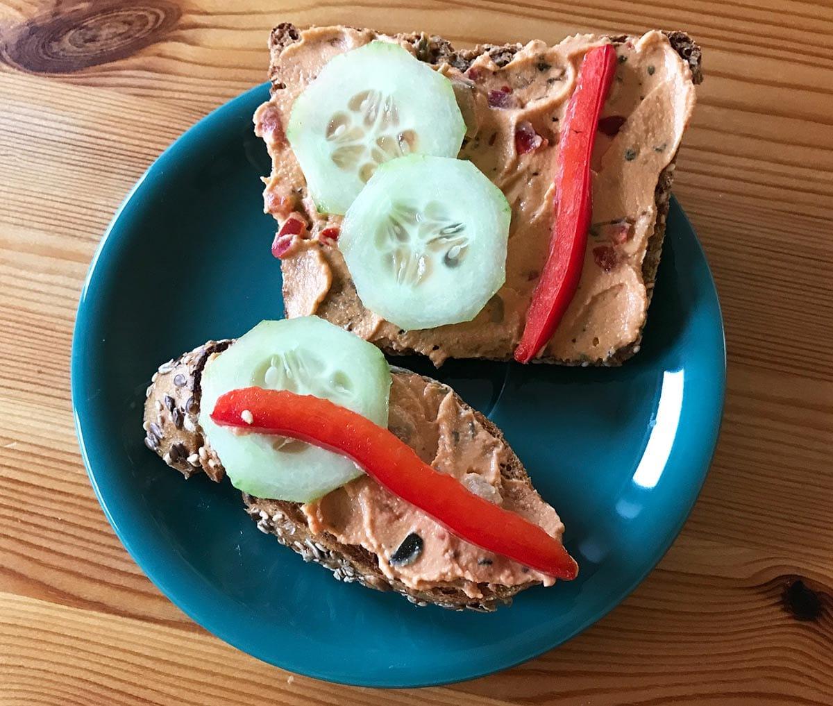 Backpacker Rezepte zum Frühstück: Belegtes Brot