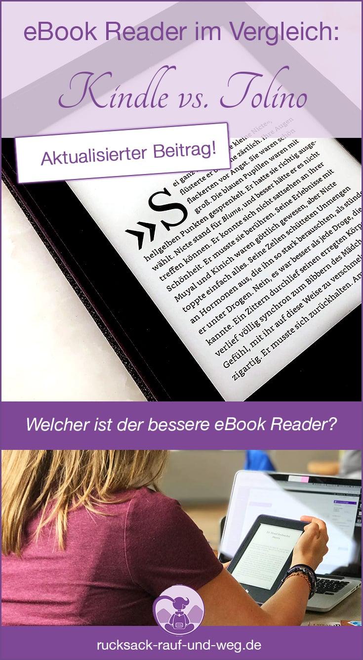 Kindle oder Tolino: eBook Reader Test und Vergleich;