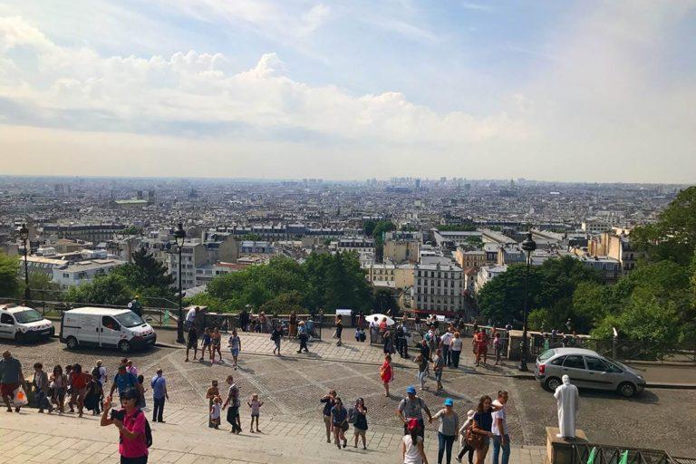 Staedtereise nach Paris: Blick von Sacre Coer