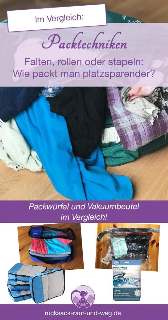 Packtechniken; Packwürfel im Test;