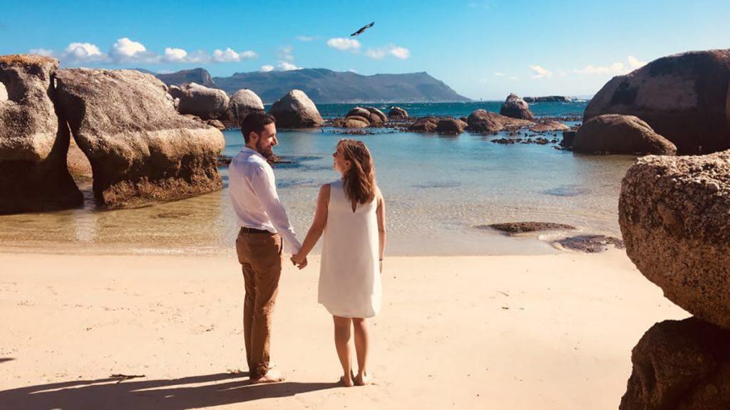 Hochzeit in Kapstadt am Boulders Beach