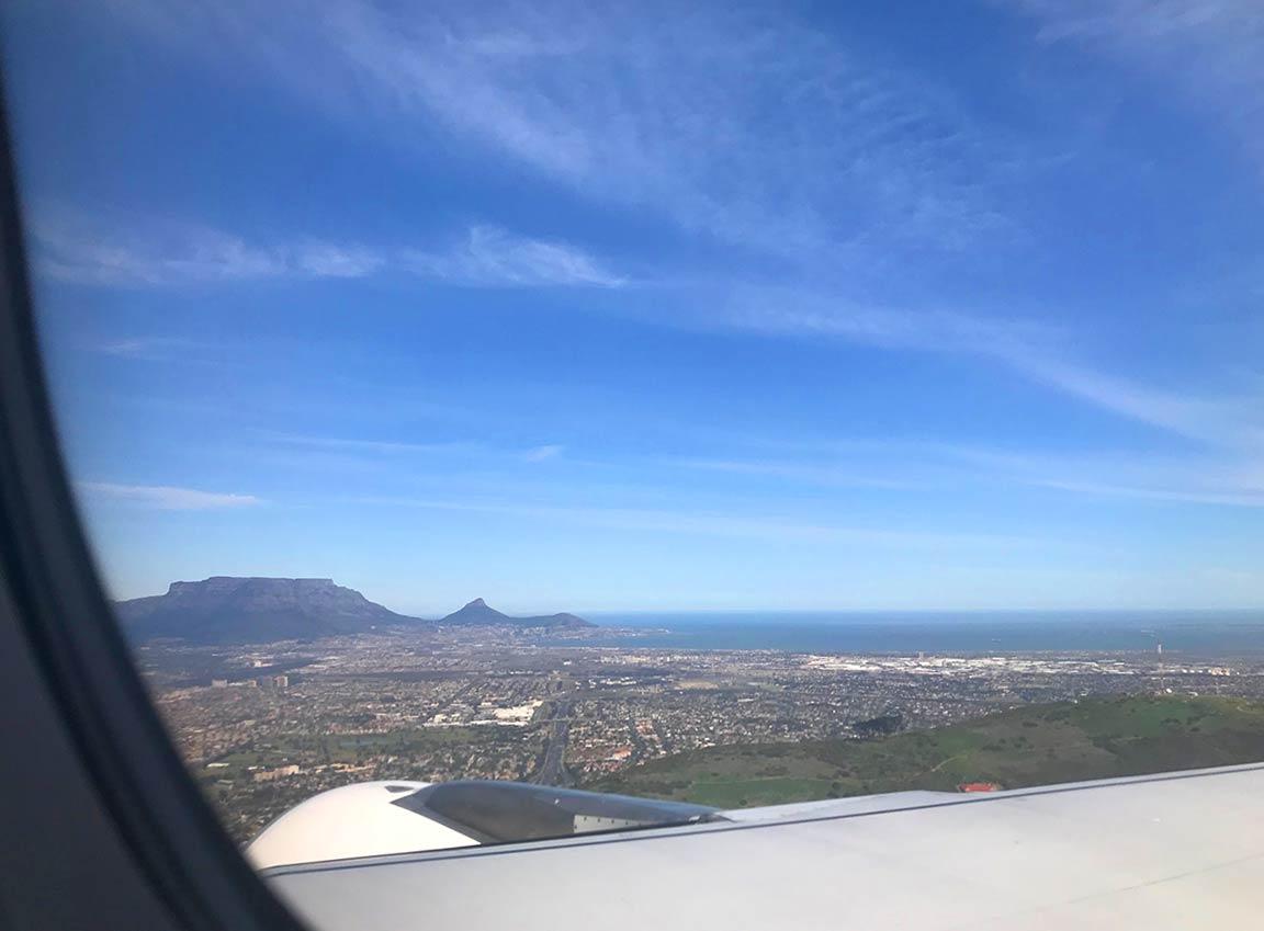 Kapstadt Landeanflug