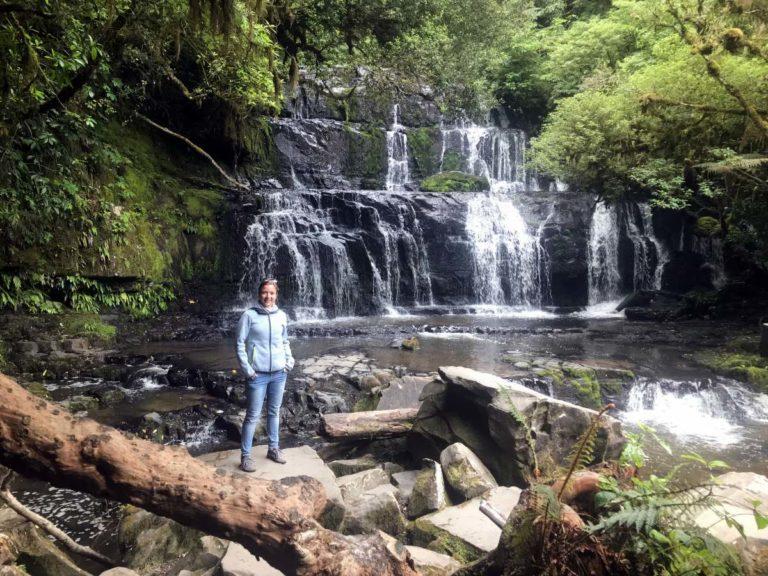 Roadtrip durch Neuseelands Südinsel: Purakaunui Wasserfall