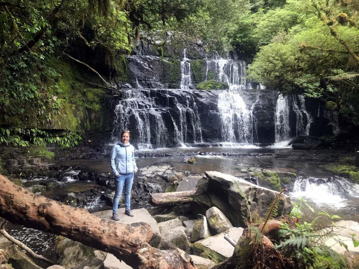 Roadtrip durch Neuseelands Südinsel: Purakaunui Wasserfall