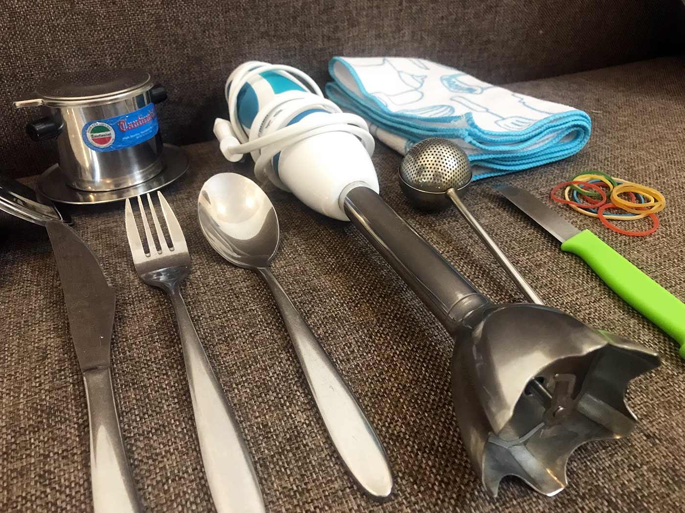 Packliste Camping, Hostel: Hostelküchenausstattung für Backpacker