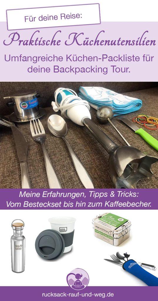 Packliste Reise Küchenutensilien