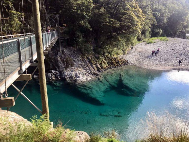 Roadtrip Neuseeland Südinsel: Blue Pools Walk