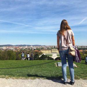 Wien Reisetipps: Blick von der Gloriette auf Schloss Schönbrunn