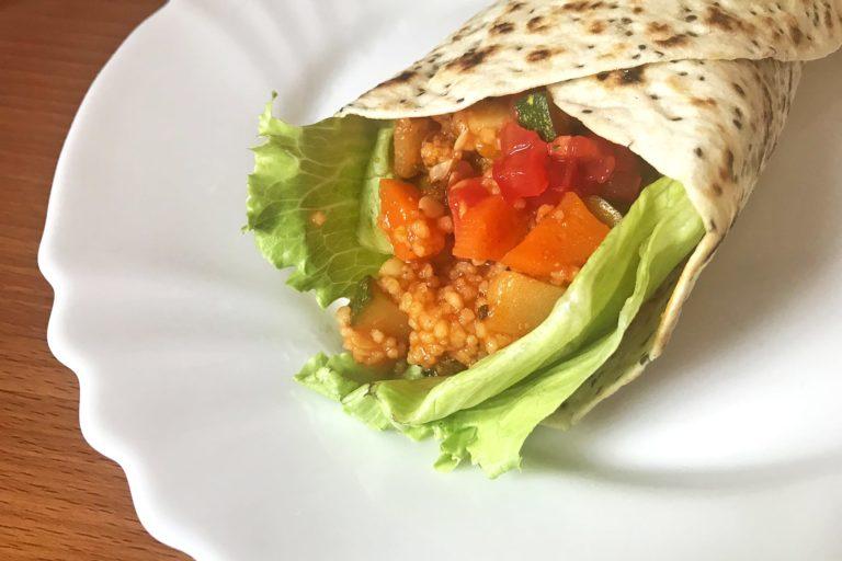 Schnelle Urlaubsküche: veganer Gemüsewrap