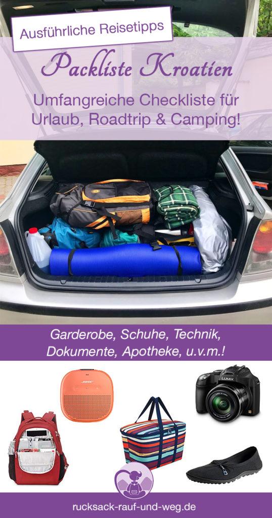 Packliste Kroatien Urlaub