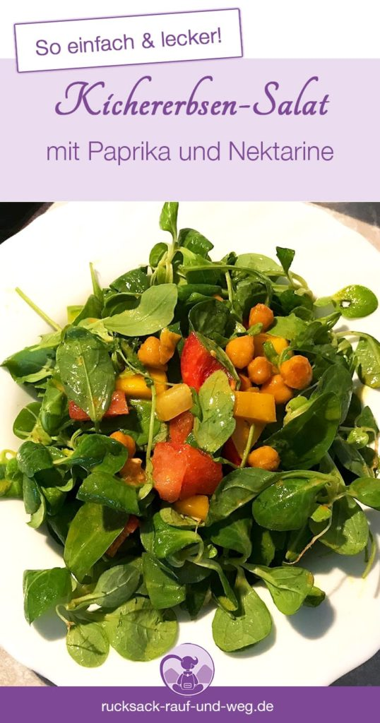 Schnelle Urlaubsküche; Einfaches Backpacker Rezept; Kichererbsen Salat;