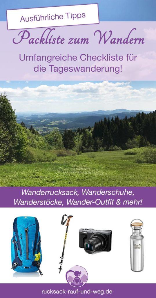 Packliste Wandern Tageswanderung