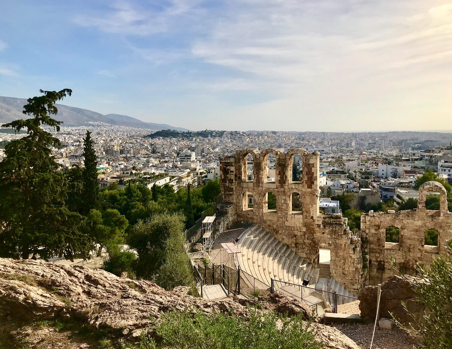 Ankunft Athen
