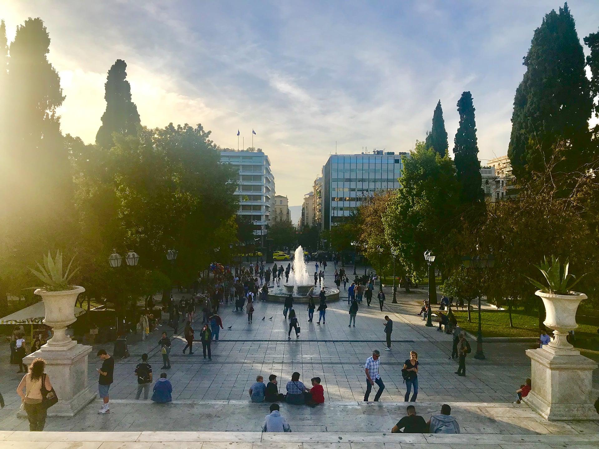 Reisetipps für Athen; Athen Sehenswürdigkeiten Syntagma Square;