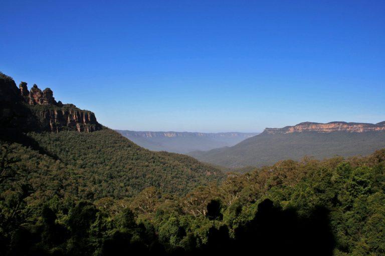 Reise Podcast Australien; Blue Mountains National Park; Rucksackg'schichten;