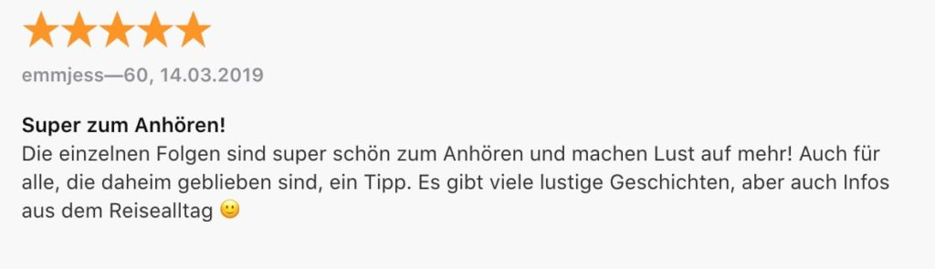 Reisepodcast Rucksackgschichten
