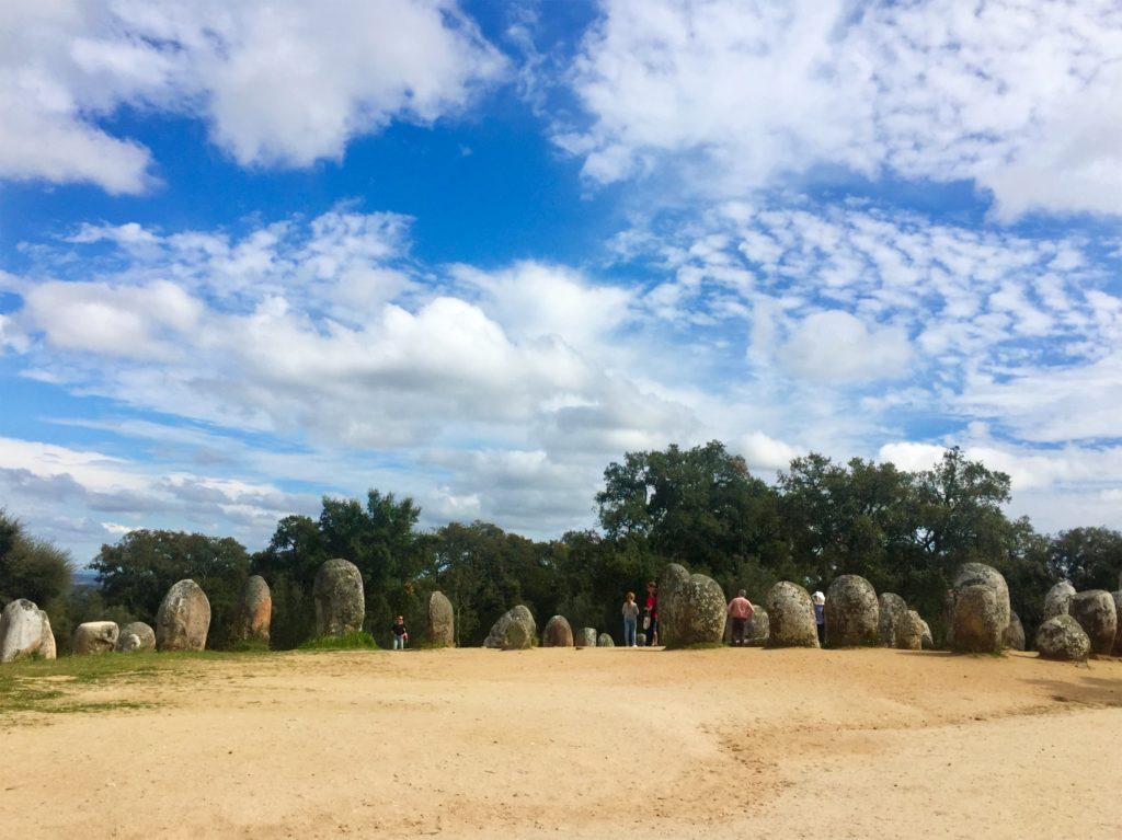 Megalithen bei Evora, Portugal