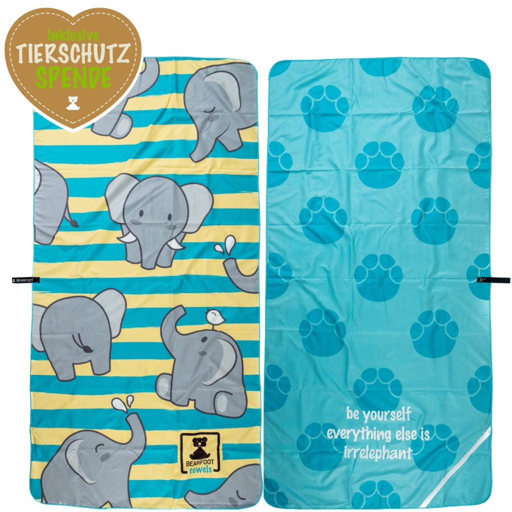 Bearfoot Mikrofaserhandtuch Nature Collection Elefanten